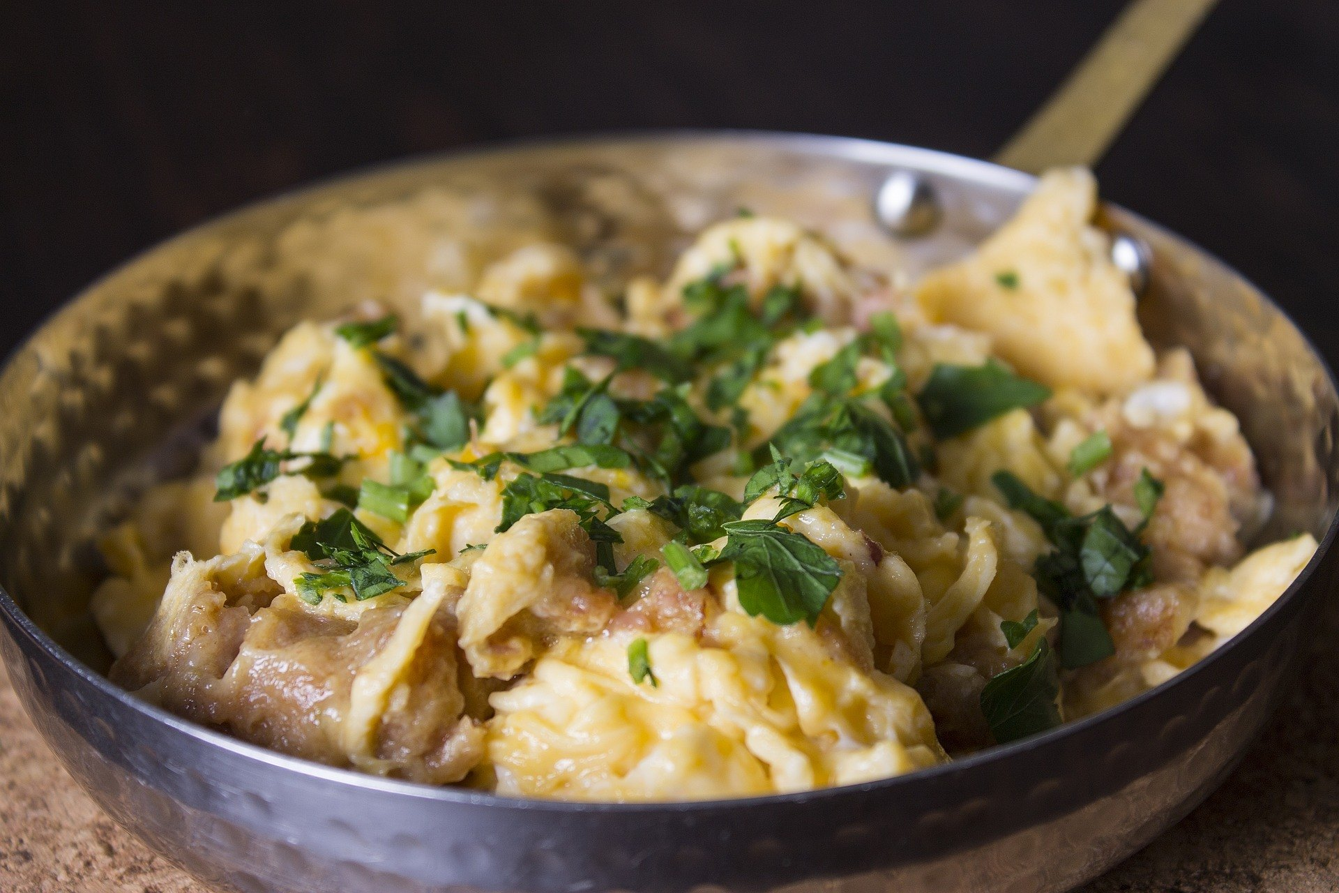 Portuguese Sausages and Scrambled Eggs
