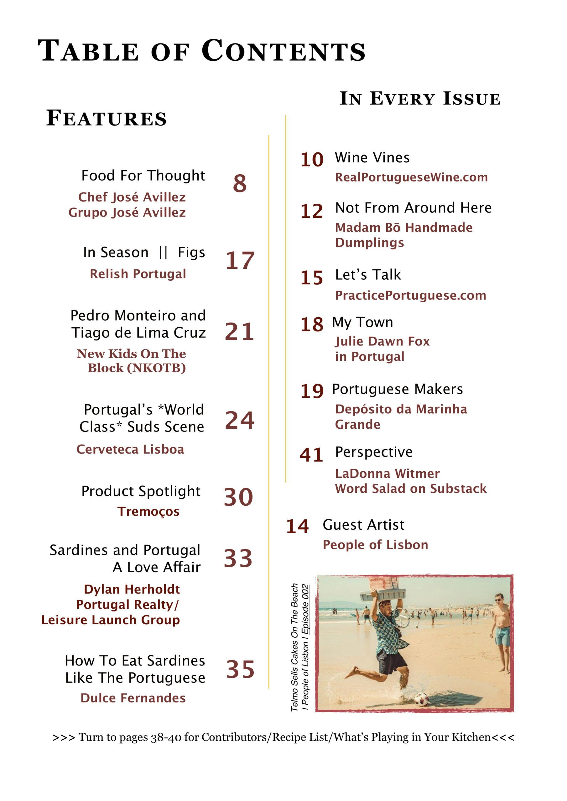 Relish Portugal Jul/Aug/Sep 2021 Table of Contents